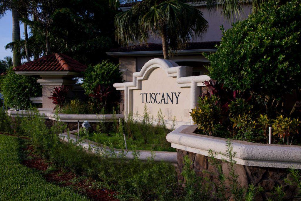 Tuscany Entrance Sign